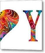 I Love You 17 - Heart Hearts Romantic Art Metal Print