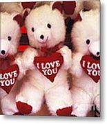 I Love You Bears Metal Print