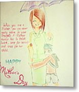 Mother's Day- I Love U Mom Metal Print