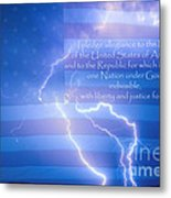 I Pledge Allegiance To The Flag  Metal Print by James BO  Insogna