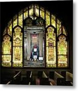 I Stand At The Door And Knock Composite Metal Print