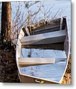 I Think The Water Goes Outside The Boat Metal Print