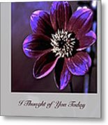 I Thought Of You Today Metal Print