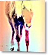 I Walk The Line And I Do It All By Myself  Metal Print