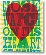 I Walk The Line - Johnny Cash Lyric Poster Metal Print