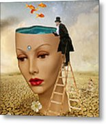 I Want To Look Inside Your Head Metal Print