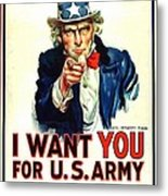 I Want You For U S Army Metal Print