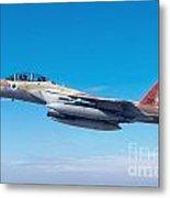 Iaf Fighter Jet F-15i In Flight Metal Print