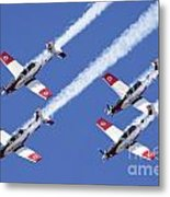 Iaf Flight Academy Aerobatics Team 6 Metal Print