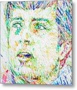 Ian Curtis Portrait Metal Print