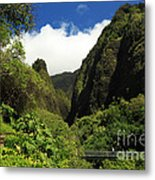 Iao Needle - Iao Valley Metal Print