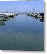 Ibiza Harbour Metal Print