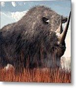 Ice Age Rhino Metal Print