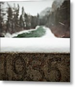 Ice And Snow Make For An Eerie Winter Metal Print