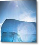 Ice And Sun Metal Print by David Pinsent