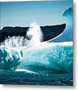 Ice And Surf Metal Print