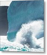 Ice And Surf II Metal Print by David Pinsent