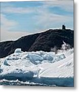 Ice And Surf Iv Metal Print by David Pinsent