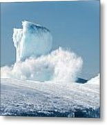 Ice And Surf V Metal Print