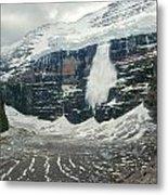 1m3545-01-ice Avalanche On Mt. Victoria Metal Print