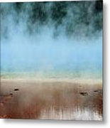 Ice Blue And Steamy Metal Print