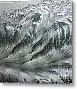 Ice Breaker Waves Metal Print