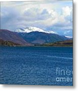 Ice Capped Mountains At Ullapool Metal Print