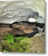 Ice Cave At The Mountains Metal Print
