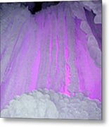Ice Cliff Metal Print