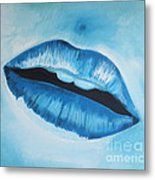 Ice Cold Lips Metal Print