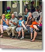 Ice Cream Eaters...an Observation Metal Print