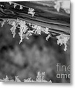 Ice Crystals Frozen In The River Metal Print