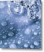 Ice Cubes With Copyspace Metal Print