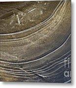 Ice Curve In Neutral Metal Print