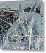 Ice Dog Metal Print