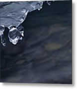 Ice Drop Metal Print