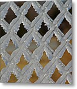 Ice Fence Metal Print