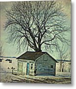 Ice Fishing  Metal Print by Dianne  Lacourciere