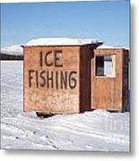 Ice Fishing Hut Metal Print