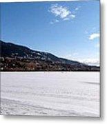 Ice Fishing On Wood Lake Metal Print