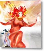 Ice Flame Metal Print