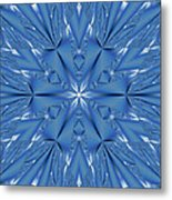 Ice Flower Fractal Metal Print