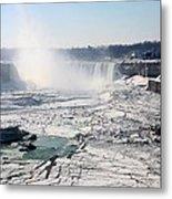 Ice Flows At Niagara Metal Print