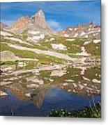 Ice Lakes Reflection Metal Print
