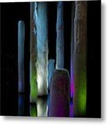 Ice Lighted Metal Print