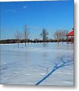 Ice On Snow Metal Print