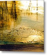 Ice On The River Metal Print
