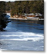 Ice On The St. Lawrence Metal Print