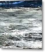 Ice On The Wisconsin River Metal Print