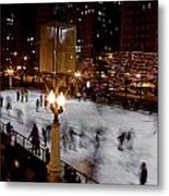 Ice Rink In Chicago  Metal Print